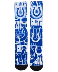 For Bare Feet Indianapolis Colts Montage Socks Blue White