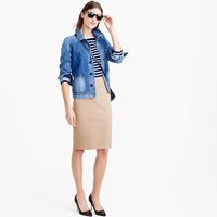 J.Crew Petite No. 2 Pencil Skirt In Bi Stretch Cotton