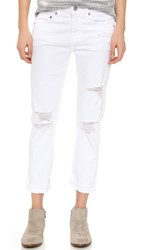 Ag Jeans The Ex Boyfriend Jeans 1 Year Busted White