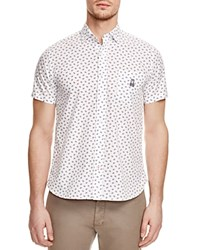 Psycho Bunny Leaf Print Regular Fit Button Down Shirt 100 Bloomingdale's Exclusive White