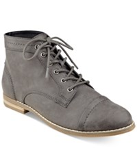 Indigo Rd. Harts Lace Up Oxford Booties Women's Shoes Gray