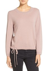 Madewell Women's Flare Sleeve Crop Cashmere Sweater Pink