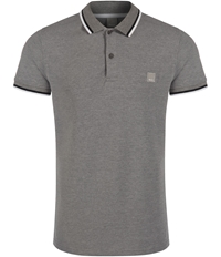 Bench Competitor B Plain Polo Regular Fit Polo Shirt Mid Grey Marl