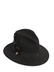 Dsquared Embellished Wool Felt Hat