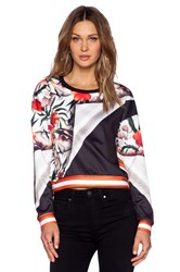 Clover Canyon Turning Flower Sweatshirt White