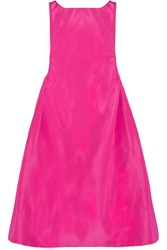 Rochas Ruched Faille Dress Pink