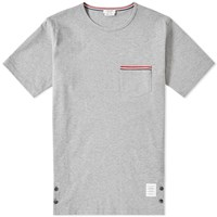 Thom Browne Jersey Pocket Tee Grey