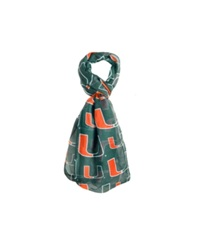 Forever Collectibles Miami Hurricanes All Over Logo Infinity Scarf Green