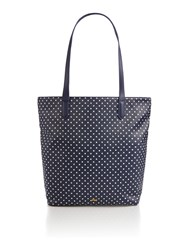 Dickins And Jones Ns Tote Bag White Navy White And Navy