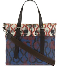 Vivienne Westwood Printed Leather Shopper Bag Red Black