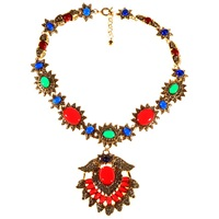 Alice Joseph Vintage 1980S Kenneth J Lane Statement Necklace Multi