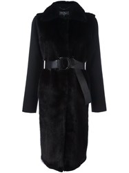 Salvatore Ferragamo Coat With Fur Black