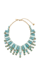 Kate Spade Beach Gem Statement Necklace Aqua Multi
