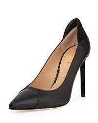 Reed Krakoff Academy Leather Pointed Toe Pump Black
