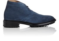 Barneys New York Men's Suede Chukka Boots Blue Navy Blue Navy