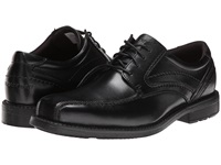 Rockport Style Leader 2 Bike Toe Oxford Black Waxed Calf Men's Lace Up Bicycle Toe Shoes
