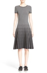 Women's Tomas Maier Stripe Knit Fit And Flare Dress
