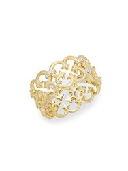 Jude Frances Diamonds And 18K Yellow Gold Filigree Ring No Color