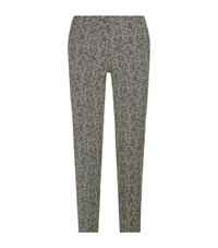 Etro Zebra Jacquard Capri Trousers Female Black