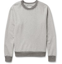 Wooyoungmi Melange Cotton Blend Jersey And Wool Blend Sweatshirt Gray