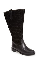 David Tate Women's 'Best' Calfskin Leather And Suede Boot