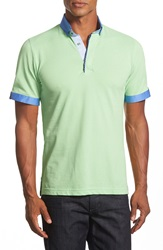 Maceoo Trim Fit Polo Lime Green
