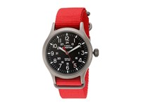 Timex Expedition Scout Nylon Slip Thru Strap Red Black Watches
