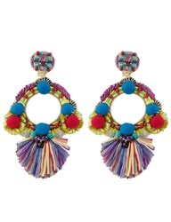 Ranjana Khan Multi Round Embellished Clip On Earrings