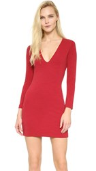 Dsquared Long Sleeve Jersey Dress Red