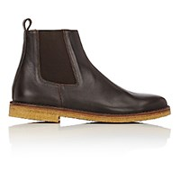 Barneys New York Men's Crepe Sole Chelsea Boots Brown Size 6 M