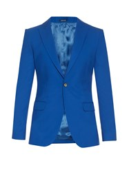 Alexander Mcqueen Single Breasted Blazer Blue