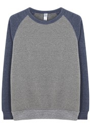 Alternative Apparel Two Tone Melange Jersey Sweatshirt Grey