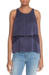 Elizabeth And James Women's Sleeveless Ruffle Tank
