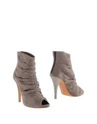 Eva Turner Ankle Boots Grey