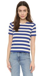 Nlst Cropped Striped Tee Blue Cream