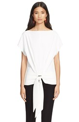 Cedric Charlier Women's Cedric Charlier Tie Front Short Sleeve Tee