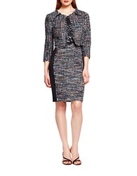 Kay Unger Cropped Tweed Jacket Black