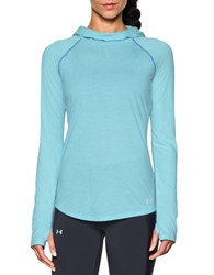 Under Armour Hooded Long Raglan Sleeve Pullover Blue