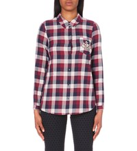Claudie Pierlot Charlot Cotton Shirt Bordeaux