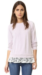 Clu Sweatshirt With Lace Ruffles Light Pink