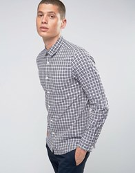 United Colors Of Benetton Check Shirt Navy 915