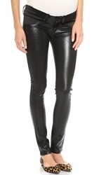 Citizens Of Humanity Racer Skinny Maternity Jeans Black Leatherette
