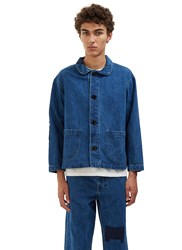 Olderbrother Patchwork Denim Chore Jacket Blue