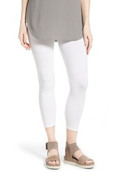 Women's Eileen Fisher Organic Cotton Crop Leggings White