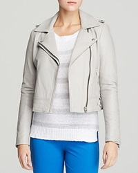 Dylan Gray Leather Moto Jacket Dove