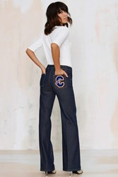 Nasty Gal Vintage Chloe Take One For The Team Wide Leg Jeans
