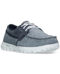 Skechers Women's On The Go Headsail Slip On Boat Shoes From Finish Line Navy
