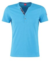 S.Oliver Slim Fit Print Tshirt Dolphin Turquoise