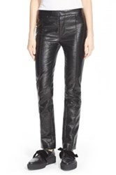Marc By Marc Jacobs Coated Crinkle Crop Pants Black