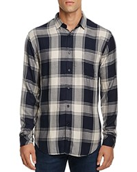 Rails Lennox Plaid Regular Fit Button Down Shirt Blue Sand